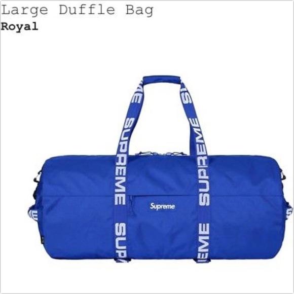 SUPREME Royal Blue Large Duffle Bag SS18 NEW ca814a4cd625d